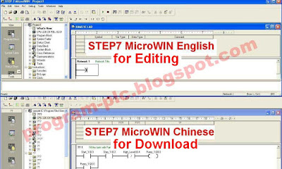 STEP7 MicroWIN Chinese and English