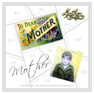 To Dear Mother Crazy Quilt Block from Vintage Vogue