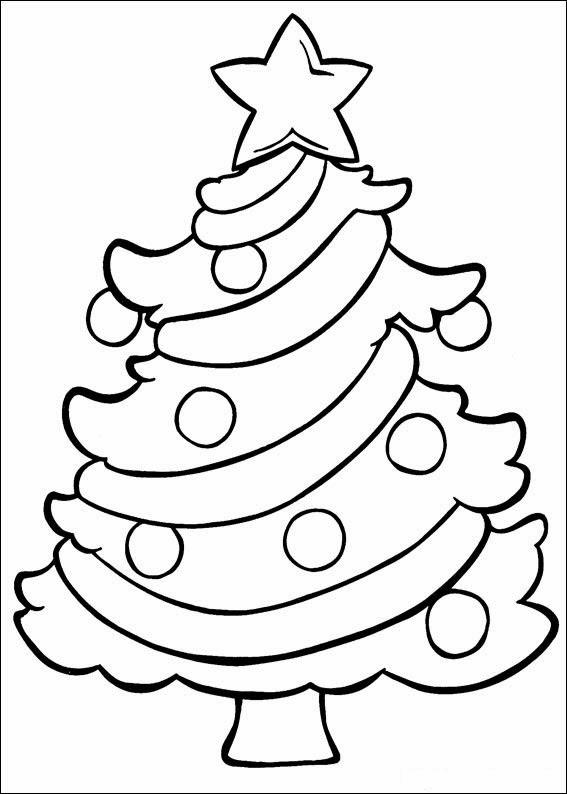 arbol de navidad para colorear parte