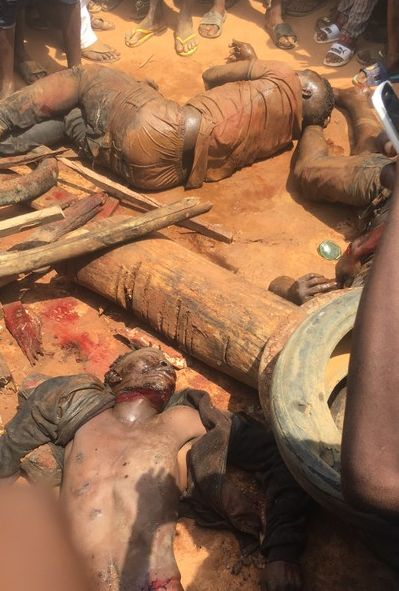 Notorious 'Badoo' Gang Killing Families In Lagos Arrested & Brutalized (Photos & Video)