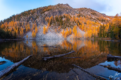 Image of Martin Lake reflection, Chelan Sawtooth