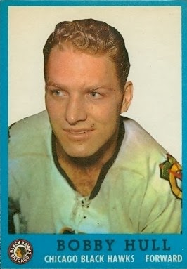 bobby hull chicago blackhawks 1962-63 topps hockey card