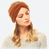 cozy rust sherpa fleece winter headwrap