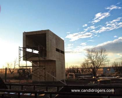 Etapa de construcción de casa pequeña económica en Texas
