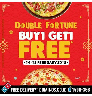 Promo Domino's Pizza Buy 1 Get 1 Free 14-18 February