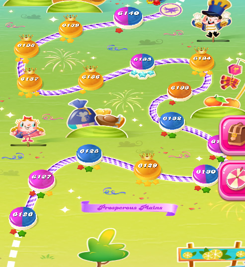 Candy Crush Saga level 6126-6140