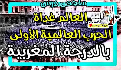 ملخص-درس-العالم-غداة الحرب-العالمية-الأولى-بالدرجة المغربية
