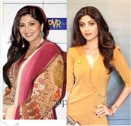 Bollywood star Shilpa Shetty, famous for her svelte figure, has posted an old photo on her Instagram page, in which she looks overweight for an actress .  Shilpa Shetty  says she was 32 kgs heavier when the old photo was taken.  The 5' 8 '' actress is now said to be 62 kg. So, when the photo was taken she would have weighed 94 kg, definitely on the heavier side.  Shilpa Shetty says she posted the ''not-so-complimentary photo''  to send out a message that if she could reduce from size 16 to size 8, anyone could .