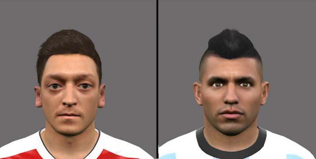 PES 2016 Mesut Özil & Sergio Agüero Face