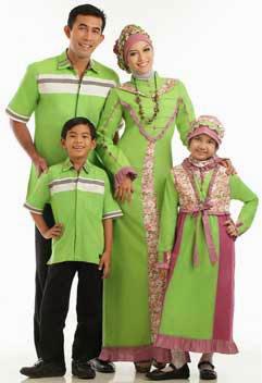 Model Busana Muslim Gamis Seragam Keluarga Terpopuler