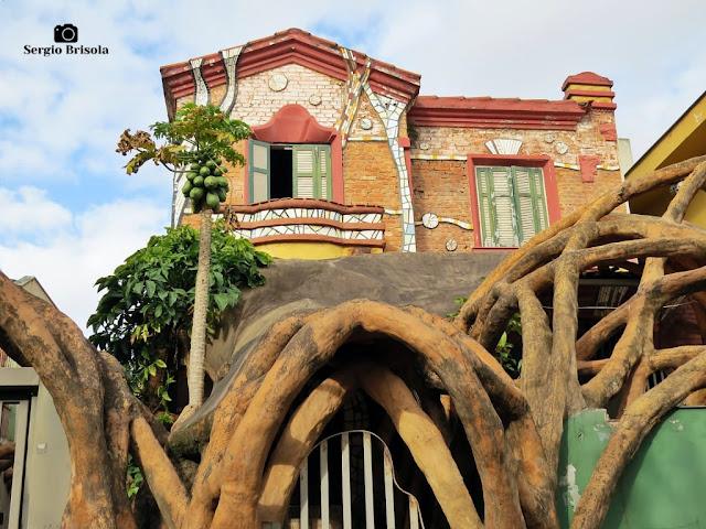 Vista ampla do Casarão do antigo Gaudi Bar - Vila Mariana - São Paulo