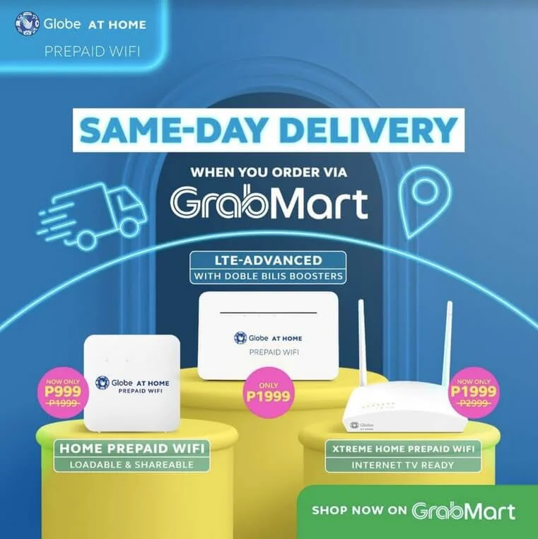 Globe At Home Prepaid WiFi Now Available at GrabMart