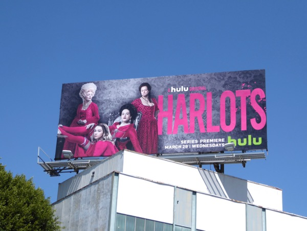 Harlots series premiere billboard