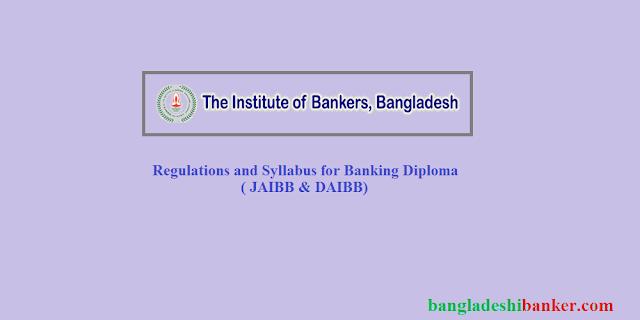 Regulations and Syllabus for Banking Diploma ( JAIBB & DAIBB)