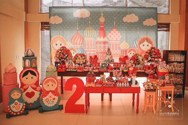 Festa de aniversário Matrioskas