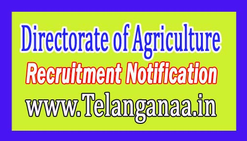 Directorate of Agriculture Government of Mizoram Recruitment Notification 2017