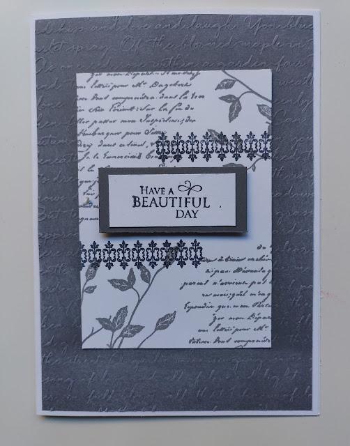 Stampin' Up Very Versailles Basic Gray Vintage Card