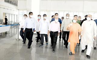 मुख्यमंत्री योगी ने कैंसर संस्थान में स्थापित 100 बेड के डेडिकेटेड कोविड हाॅस्पिटल का लोकार्पण किया