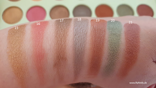 Swatches zu Dream Shadow Palette