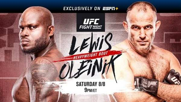 Watch UFC Fight Night: Lewis vs Oleinik Live Stream Full Replay Online and Download mp4