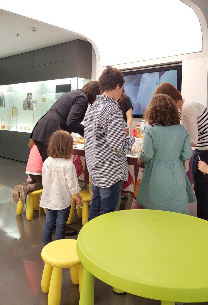 bloggers and kids en el museu perfum andorra