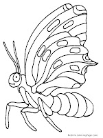 Flying Butterfly Printable Insect Coloring Pages