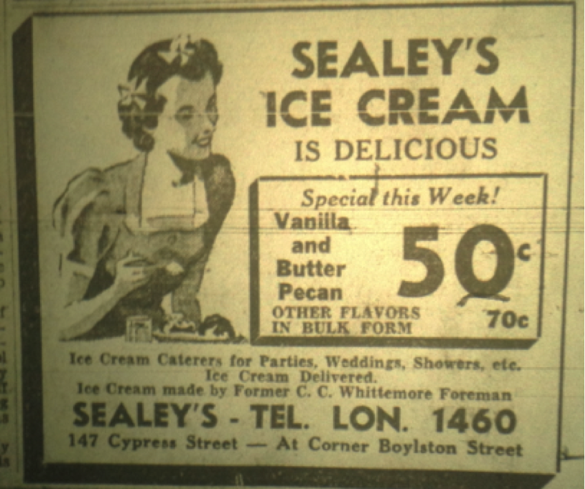 Sealey's ad, 1937