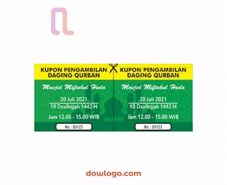 Download Kupon Qurban 2021 Vector Format CDR, PNG