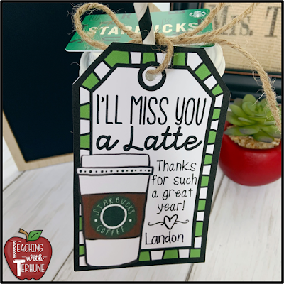 Gift Tag for Teacher Gift Card