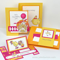 Stampin' Up! Hey Birthday Chick Stamp of the Month Club Card Kit  ~ www.juliedavison.com #stampinup