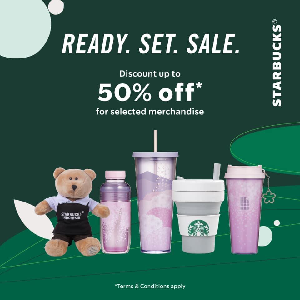 Promo Starbucks Official Merchandise Diskon 50% Periode 25 Mei - 7 Juni 2020