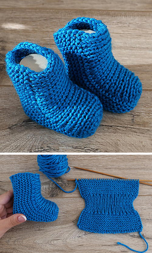 Easy Baby Socks Two Needle - Free Knitting Pattern + Video