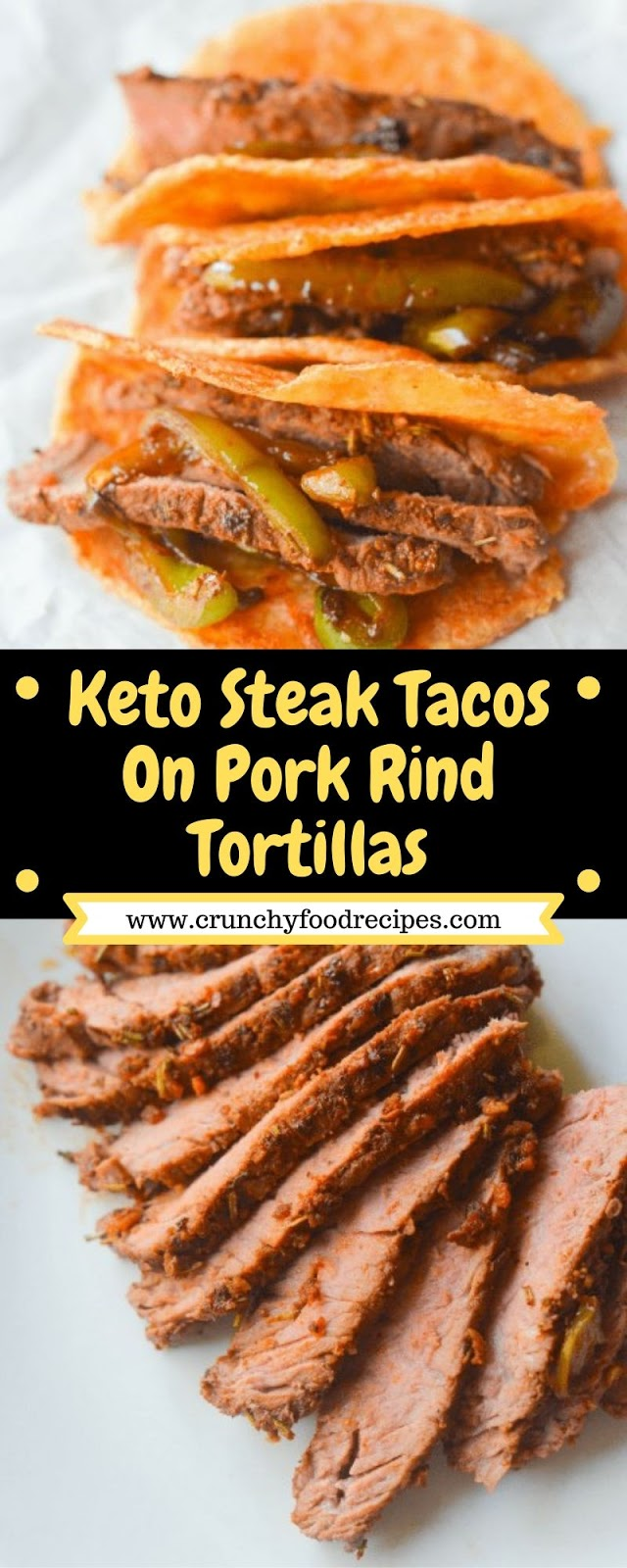 Keto Steak Tacos On Pork Rind Tortillas