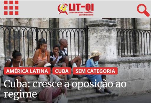 """PSTU FESTEJA AS MANIFESTAÇÕES """"MADE IN USA"""" EM CUBA: LIT CELEBRA JUNTO COM A CASA BRANCA"""