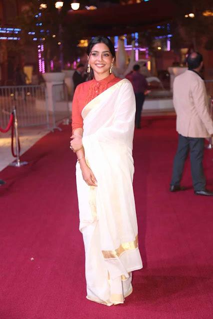 Tamil Actress Satna Titus Latest Images In Saree Actress Trend