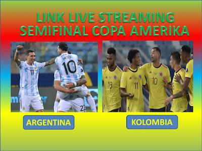 Link Live Streaming Semifinal Copa America 2021 Argentina Vs Kolumbia