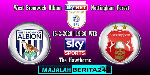 Prediksi West Bromwich Albion vs Nottingham Forest