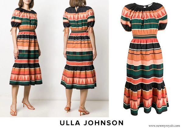 Queen Maxima wore Ulla Johnson Ayta Striped Dress