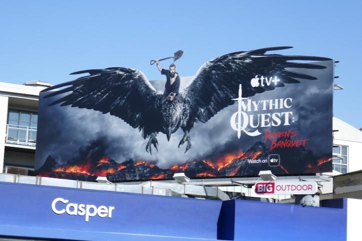 Mythic Quest Ravens Banquet series premiere billboard