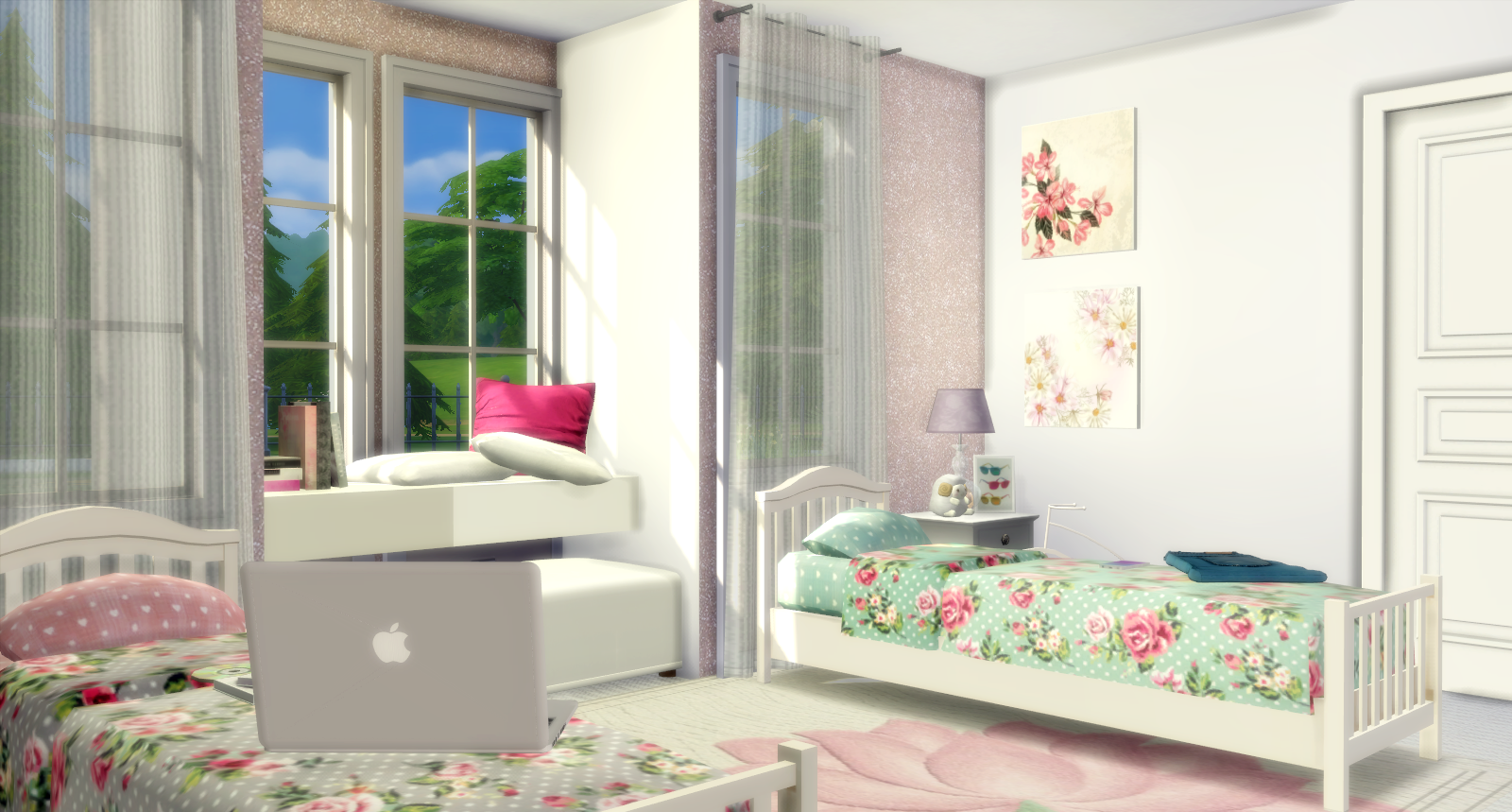 Twin Girls Bedroom Lily Sims