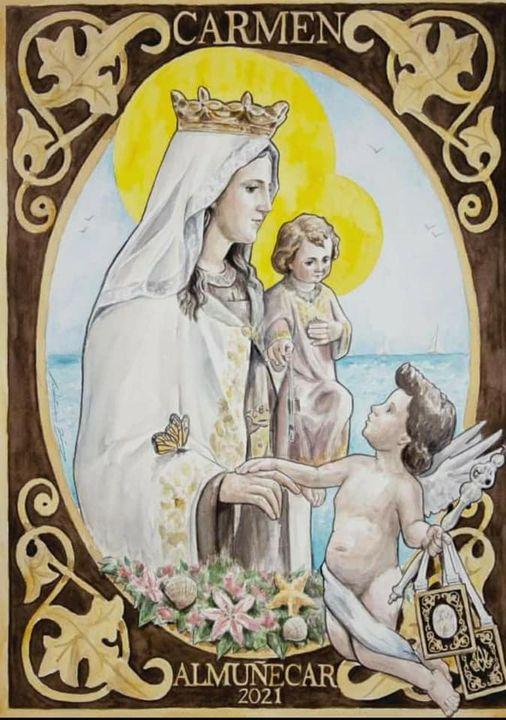 Cartel de la Virgen del Carmen de Almuñecar 2021