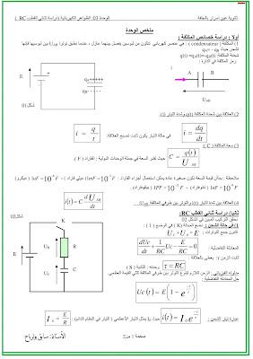 ملخص الظواهر الكهربائية بكالوريا 2021 ج1