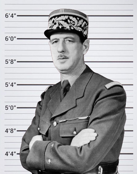 Charles de Gaulle height chart background