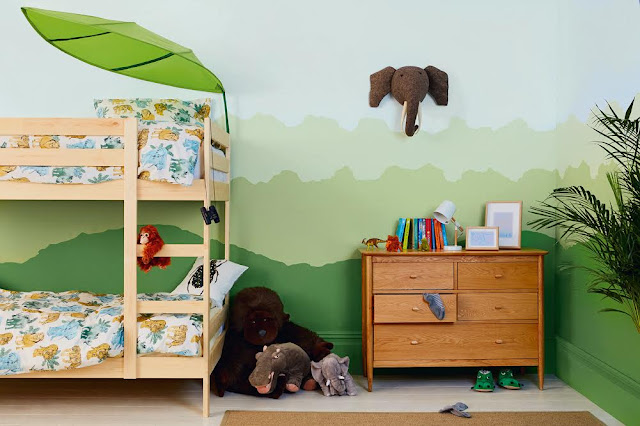 Dulux Jungle Bedroom #KidsBedroom