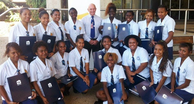 Png Students Welcomed At Townsville College Papua New