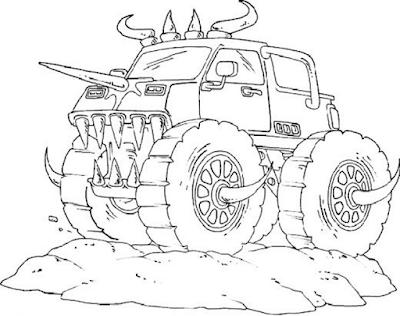 Gambar mewarnai monster truck - 3