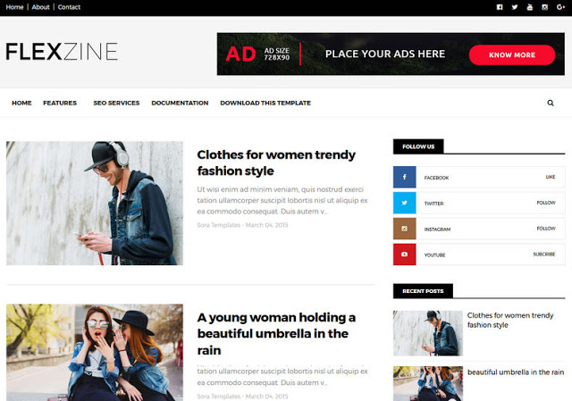 FlexZine Free Blogger Template