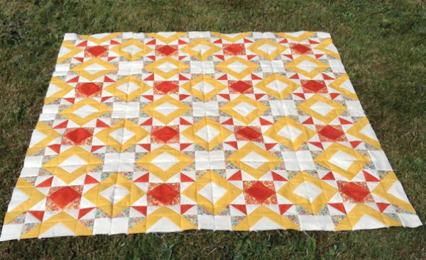 Kathy's Just the Basics Quilt | DevotedQuilter.blogspot.com