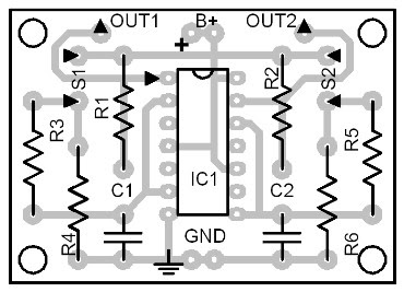 Parts-Placement-Layout-of-Debounced-Pulse-Generator-Circuit