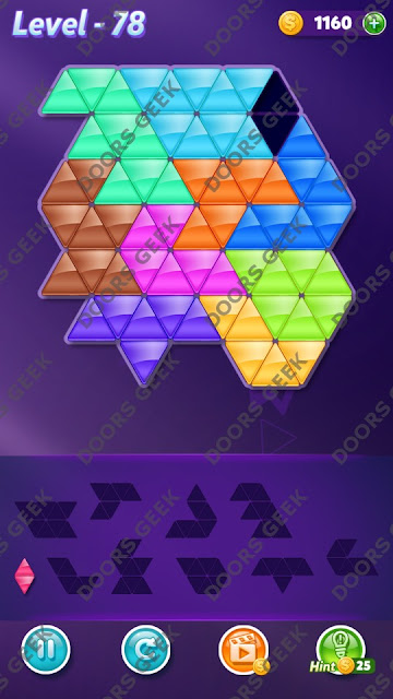 Block! Triangle Puzzle Master Level 78 Solution, Cheats, Walkthrough for Android, iPhone, iPad and iPod